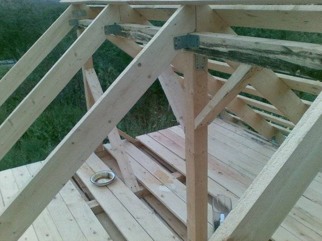 Крыша каркасного дома своими руками доска