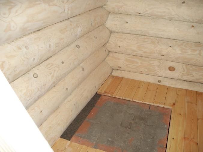 Фундамент под железную печь в баню