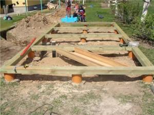 фото: монтаж обвязки под баню