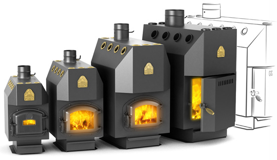 фото: газовая печка для бани