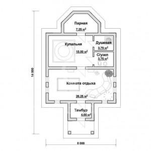 фото: план отдельно стоящей турецкой бани