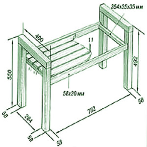 Как собрать скамейку