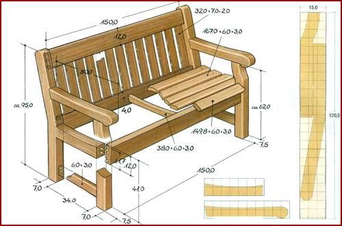 Схема мебели из дерева своими руками