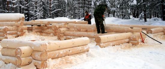 фото: сборка коробки зимой