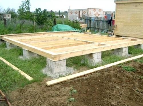 фото: фундамент каркасной бани