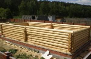 фото: как на фундамент ставить сруб бани