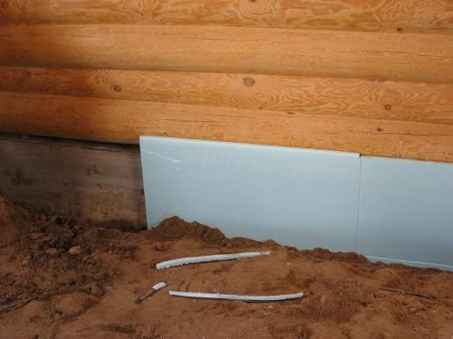 Как утеплить фундамент в бане