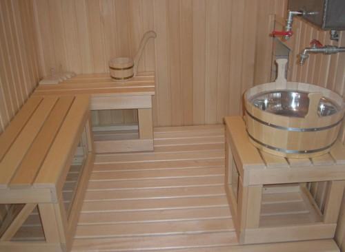 фото: оборудование бани на воде