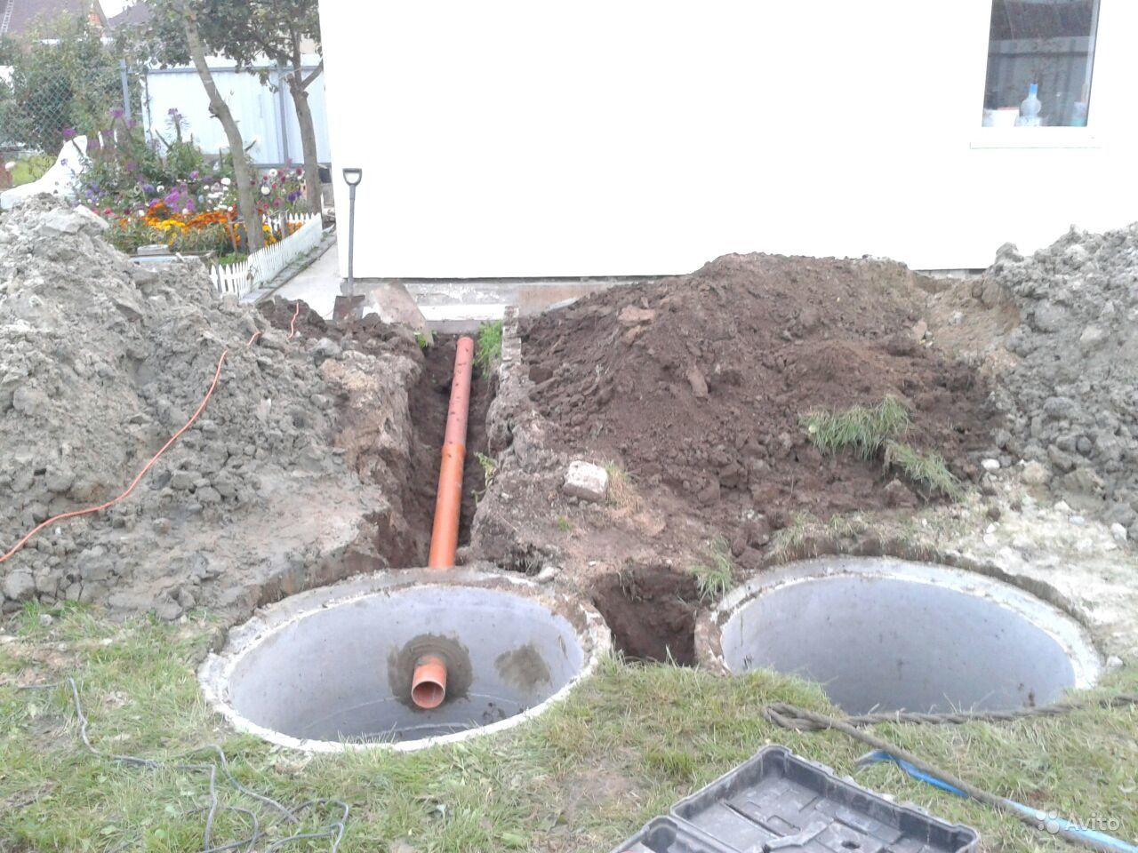 Канализация из покрышек: как копать и выкопать 77