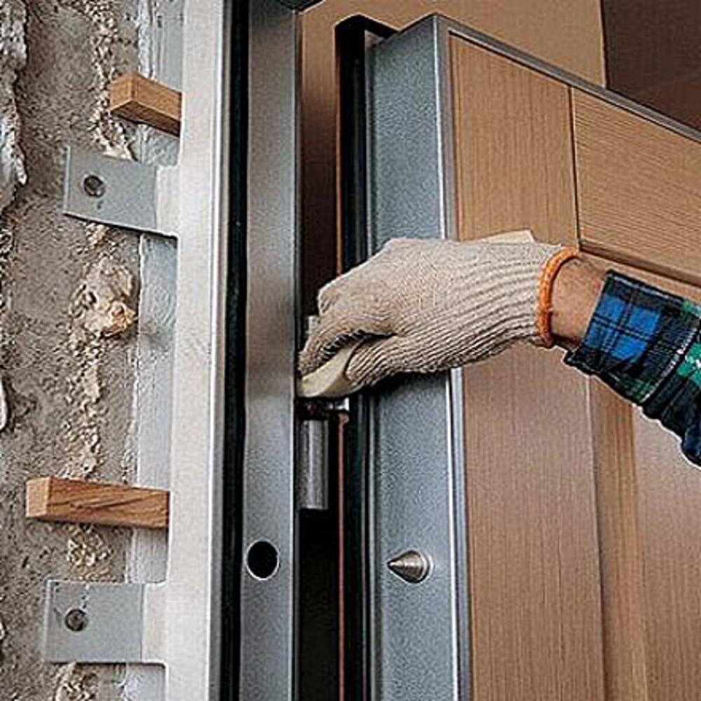 схема входная стальная дверь своими руками