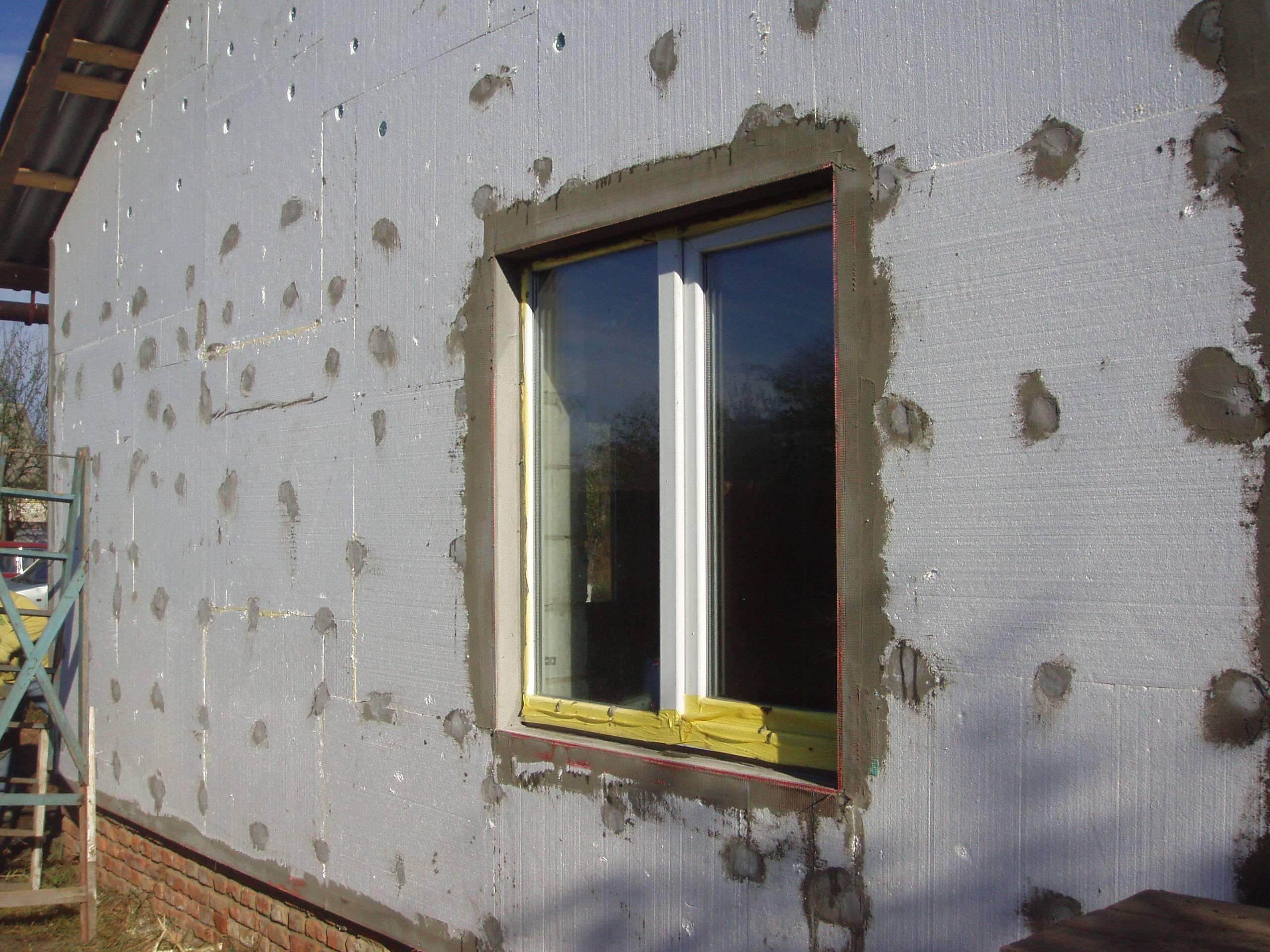 Утепление стен снаружи пеноплексом своими руками видео