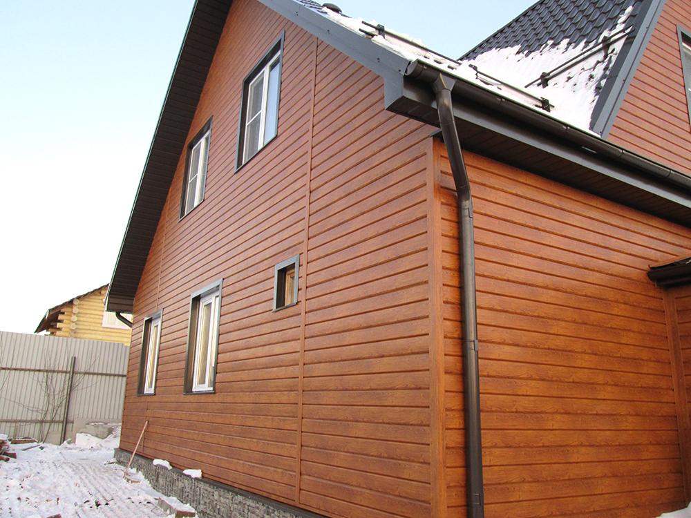 Отделка фасадов деревянных домов из панелей