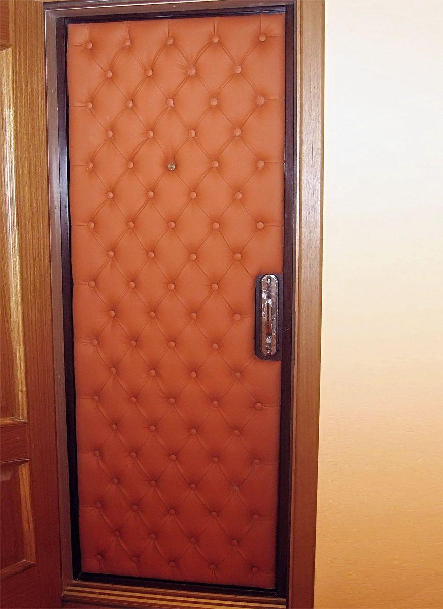 Как обшить входные двери