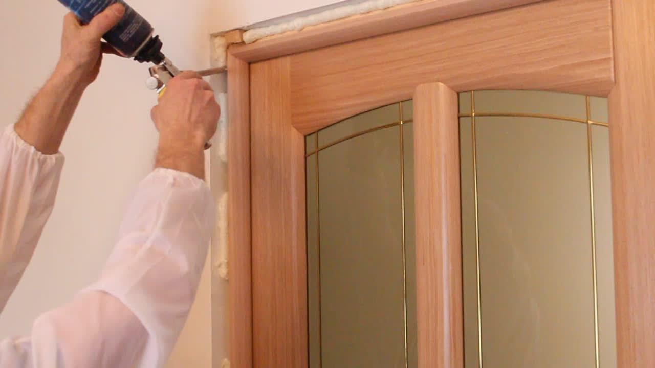 Установка дверей своими руками фото уроки