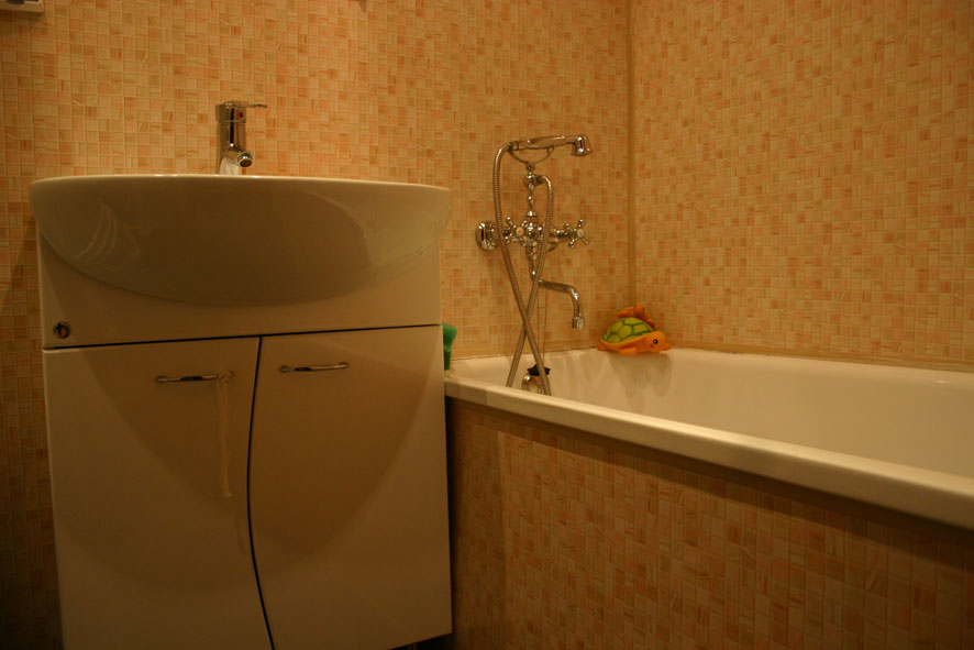Панели пвх в ванную комнату фото своими руками