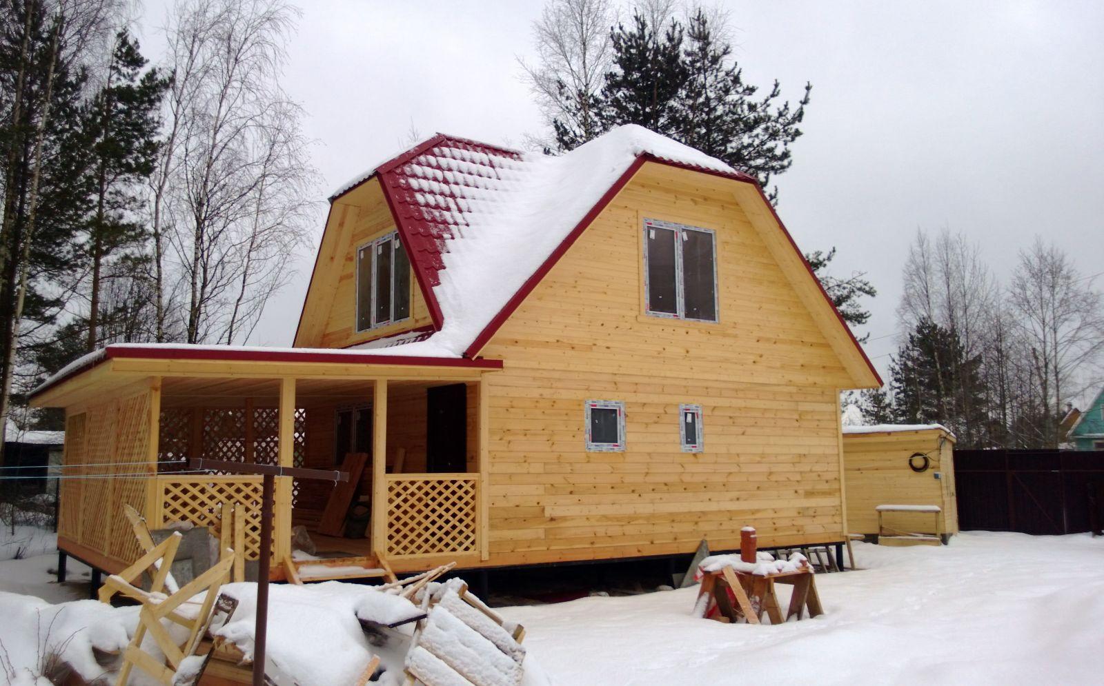 Двухэтажных баня на даче
