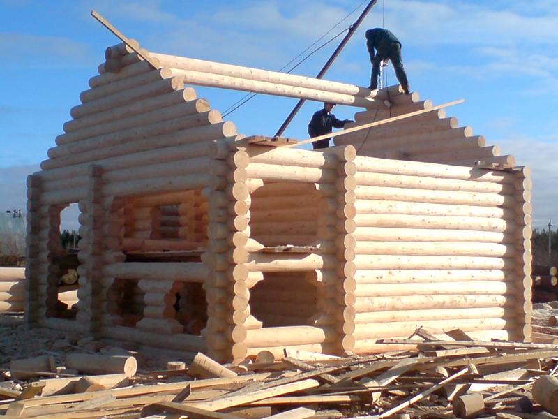 Строительство дома из сруба своими руками фото