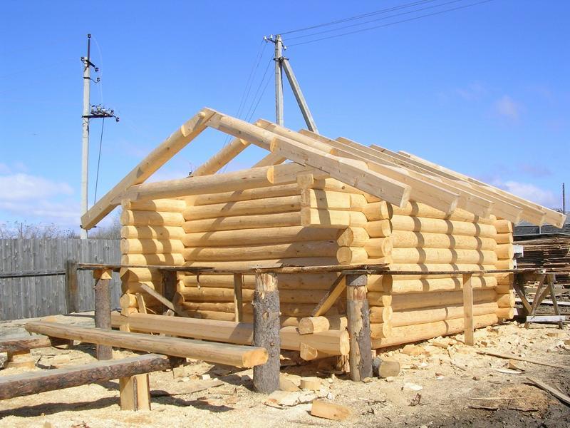 Фото строительства домов бань