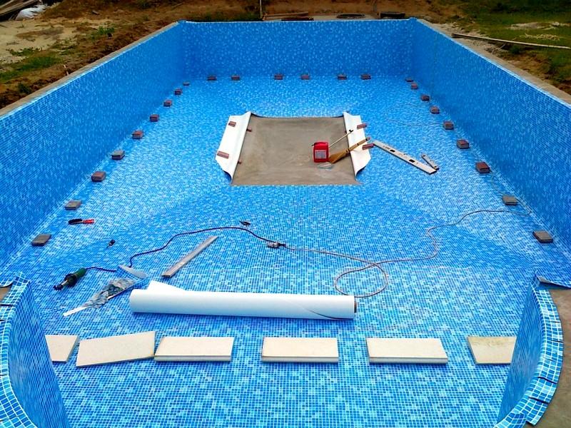 Технология проведения строительных работ при обустройстве бассейна в бане