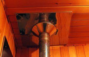 Труба бани через крышу
