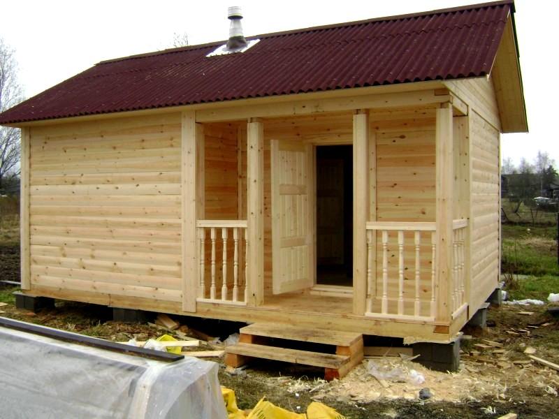 Этапы строительства дома бани
