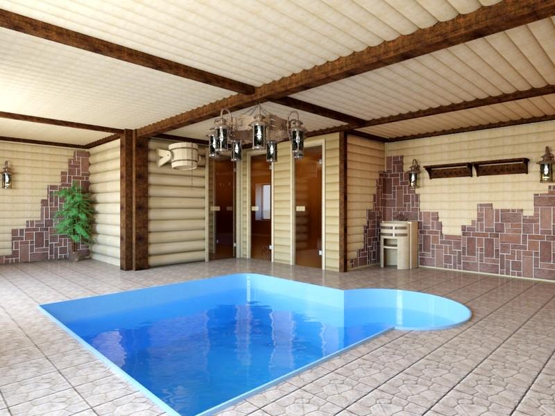 Как построить сауну с бассейном своими руками в частном доме