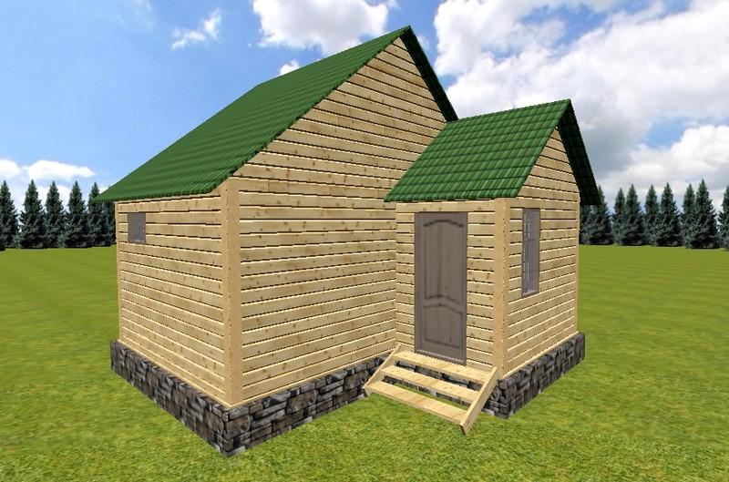 проект маленькой деревянной бани