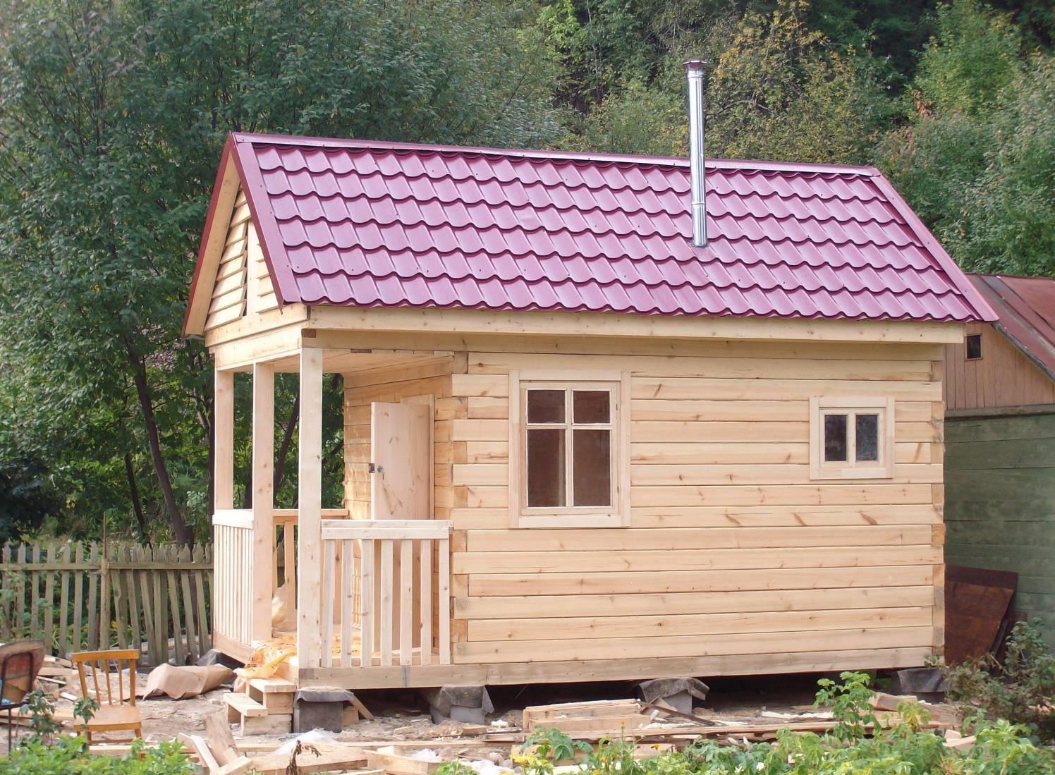 Строительство бань на даче своими руками