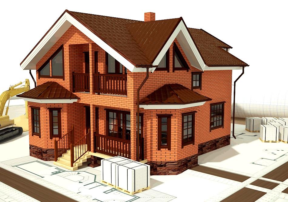 Гостевой домик из кирпича