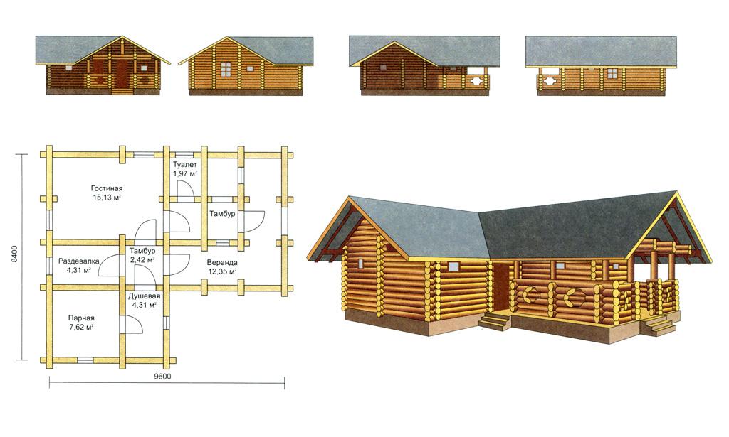 План гаража 2 этажа