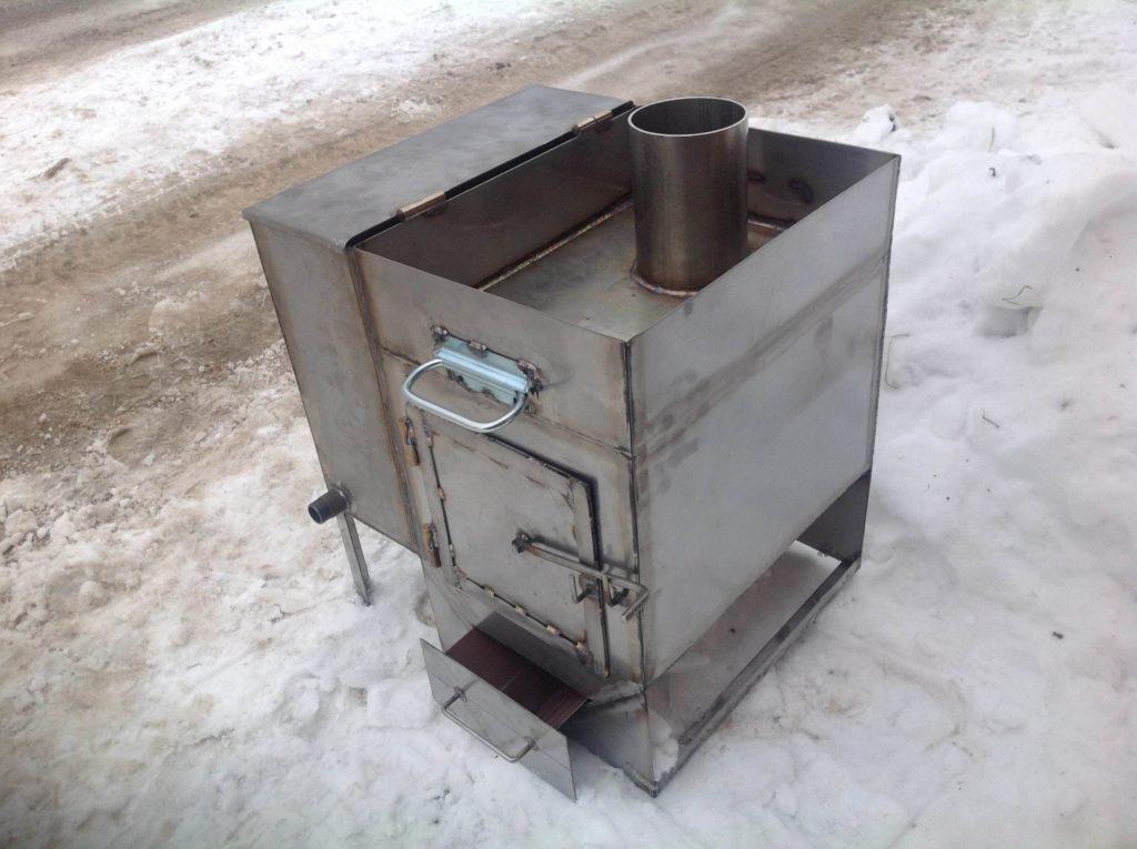 Печь металлическую для бани своими руками