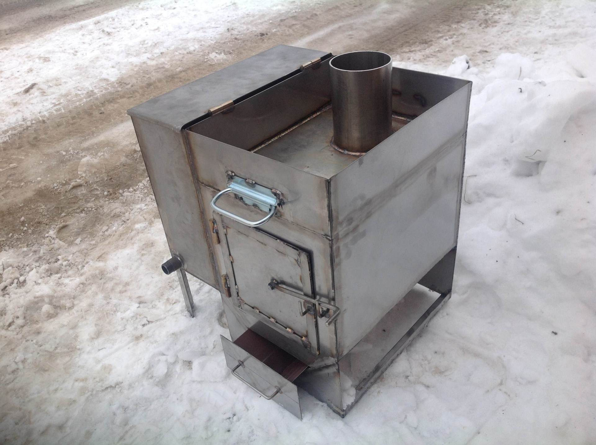 Железная печь банная