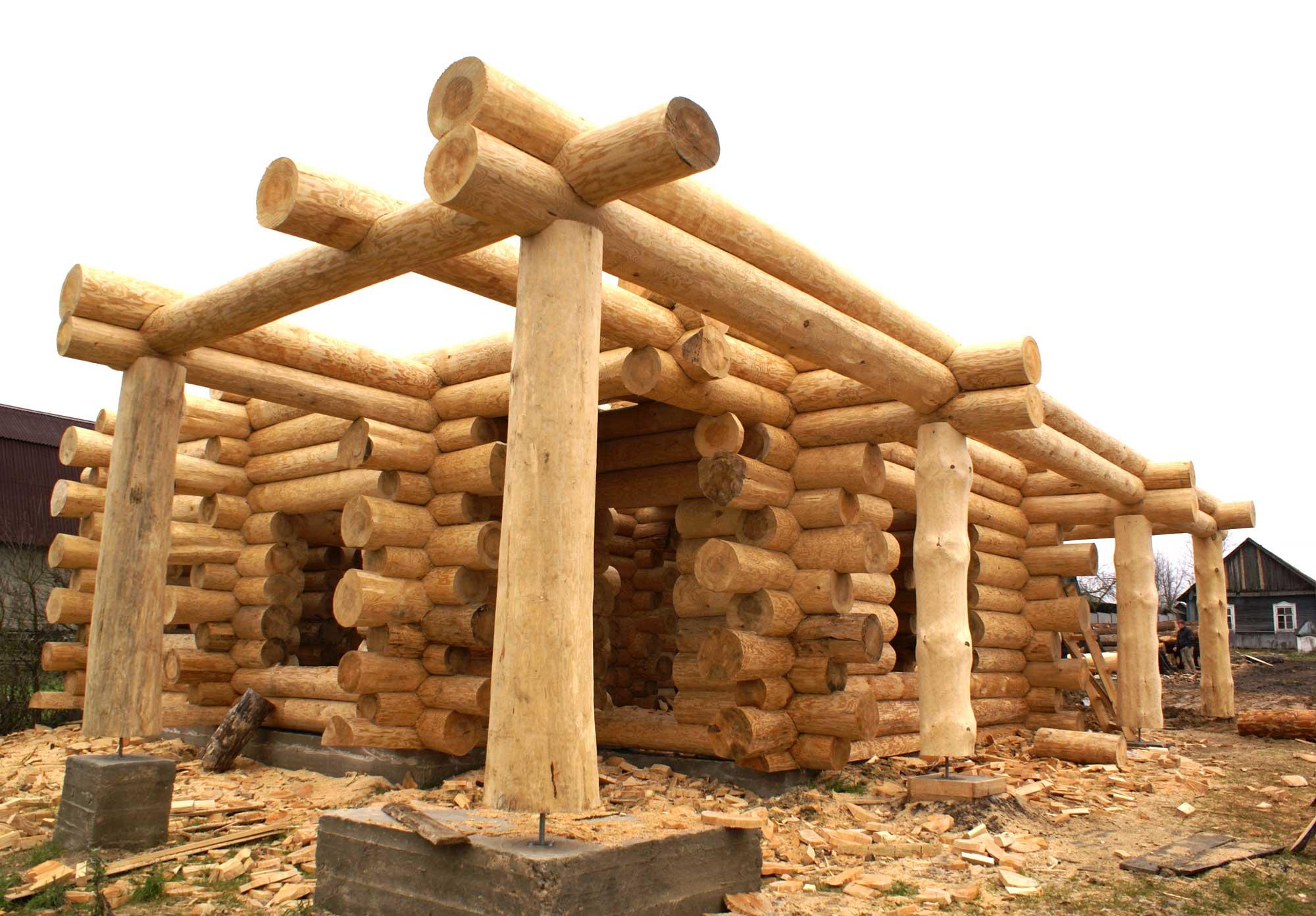 Срубы домов из бревна своими руками
