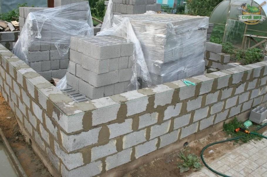 Строительство бани из блоков