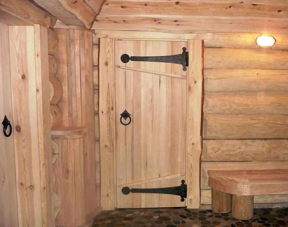Дверь бани своими руками фото