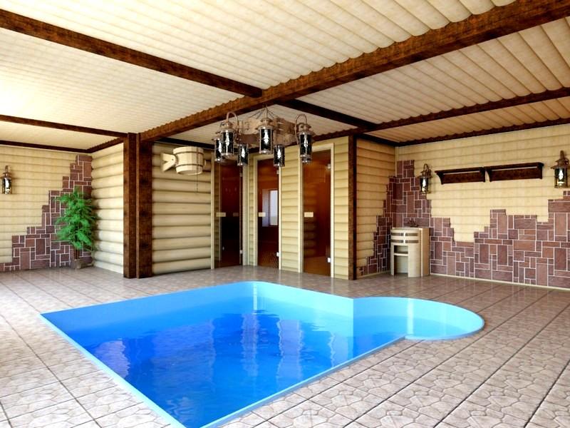 Как построить баню с бассейном своими руками 49