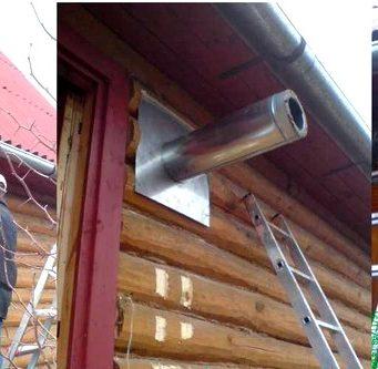 Обустройство дымохода в бане через стену