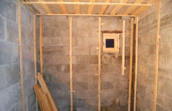 Утепление стен бани изнутри