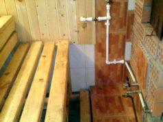 водопровод в бане зимой