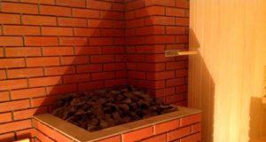 обкладка печи в бане кирпичом