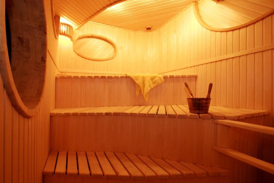 Дизайн полога в бане