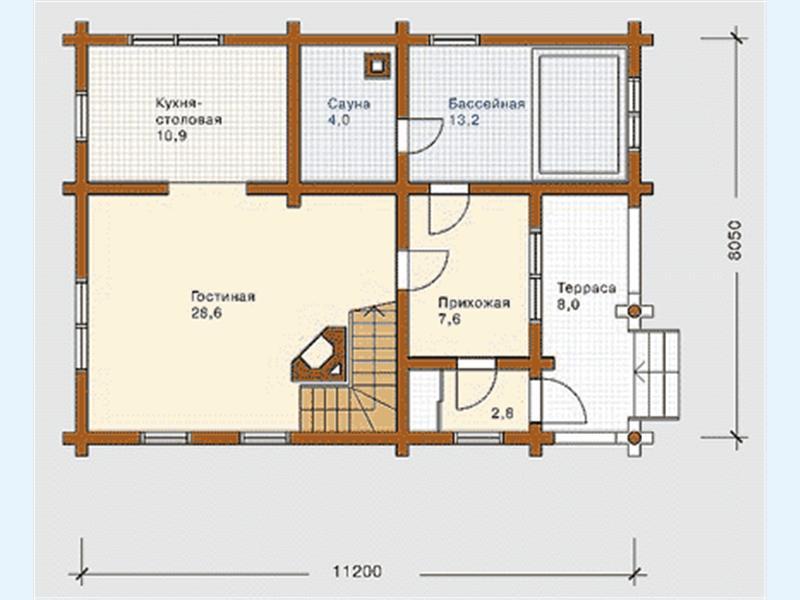 Проект дома с баней