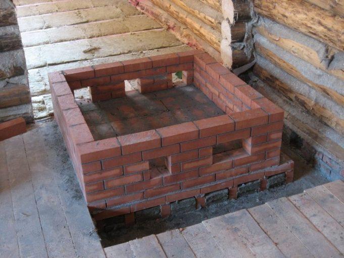 Фундамент под печь в доме