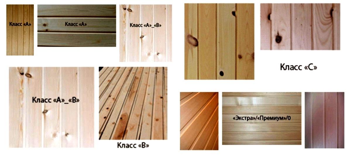 Классификация деревянного блок-хауса