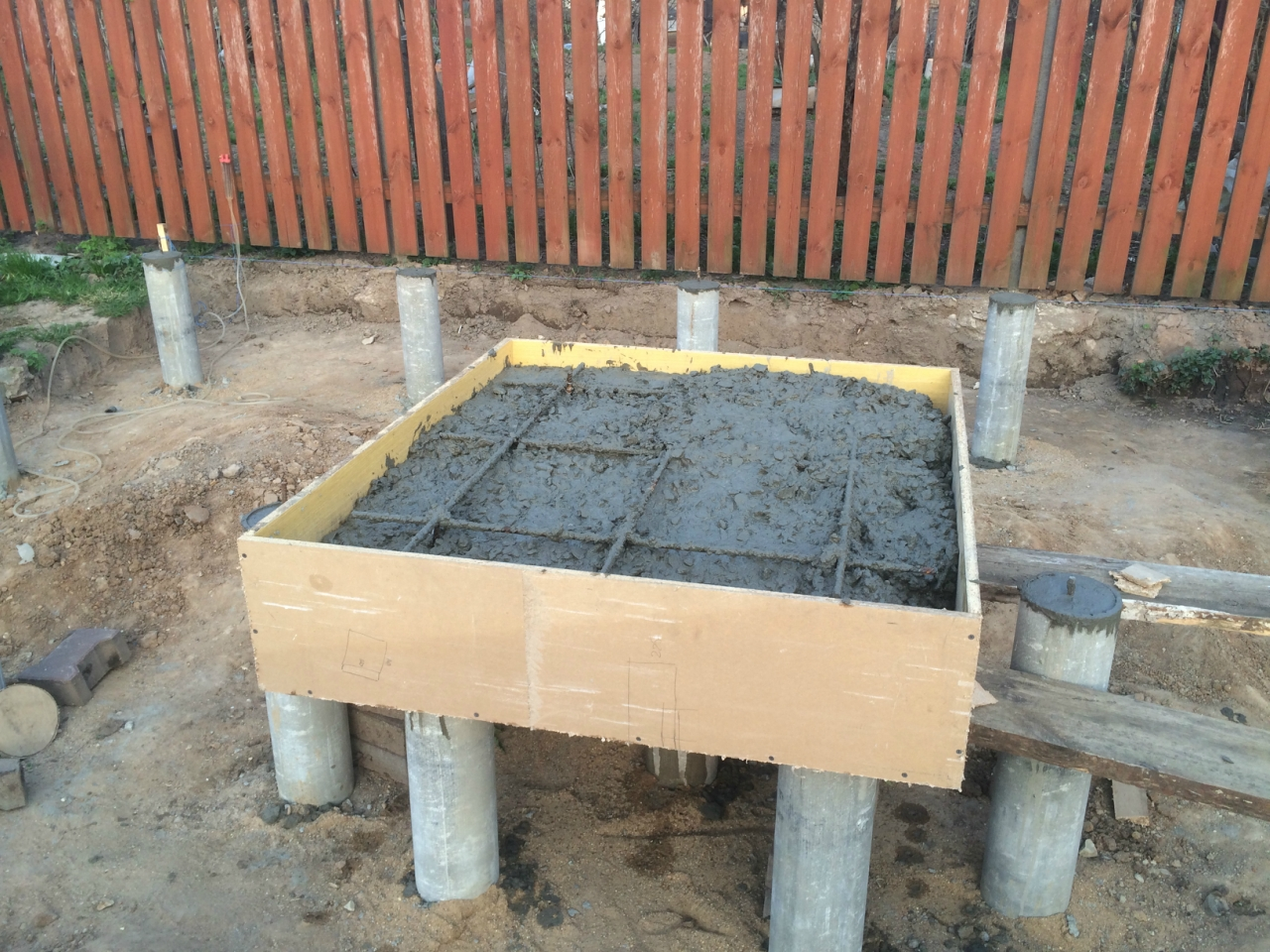 Баня фундамент под печь