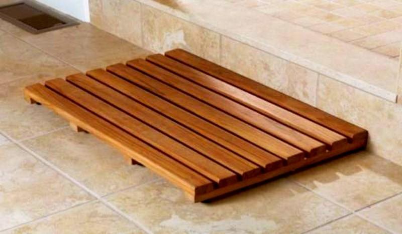 деревянная решетка на пол бани