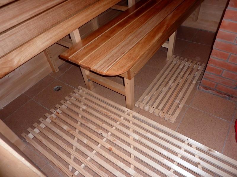 Как сделать решетки на пол для бани