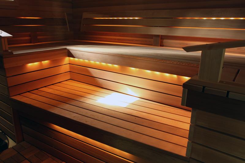 Лента под полками в бане
