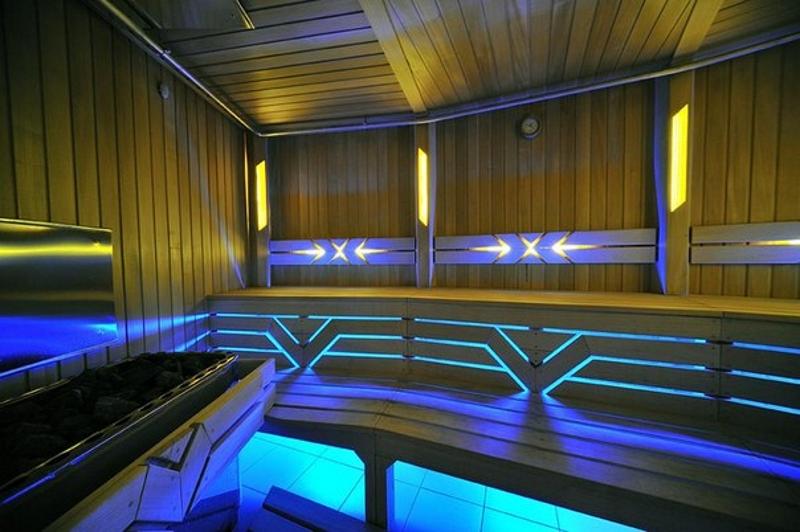 Светодиодная лента в бане