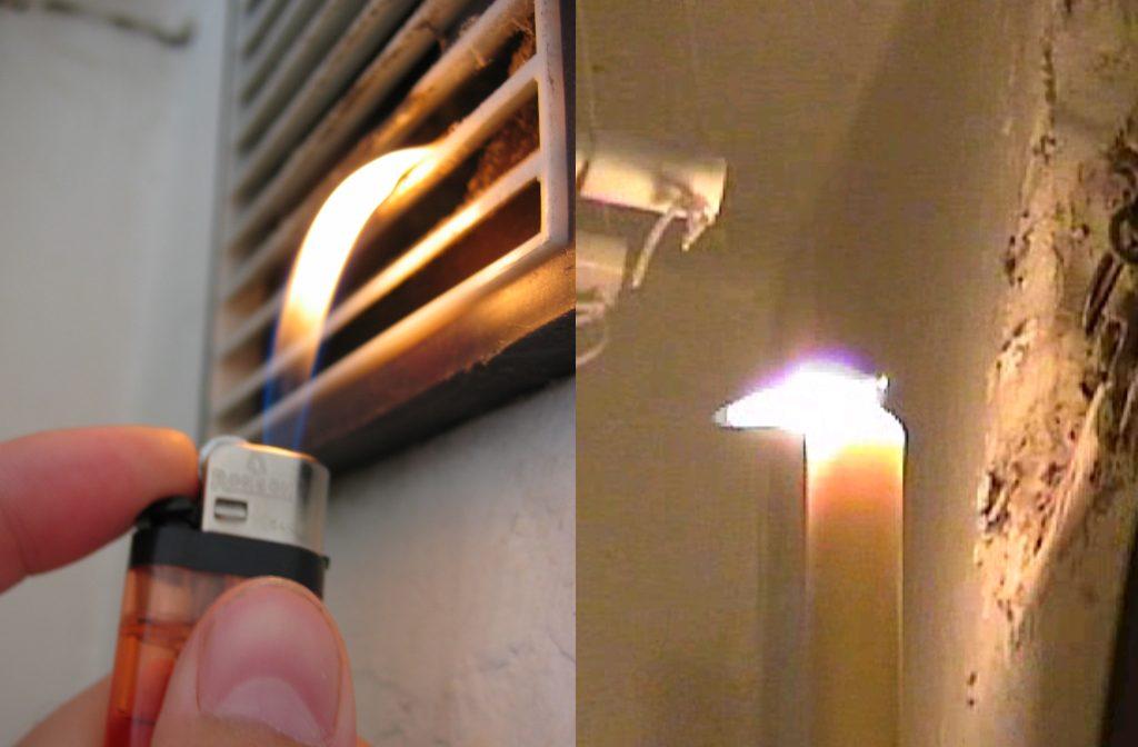 Проверка работы вытяжной вентиляции